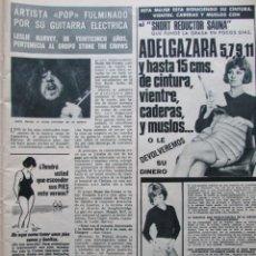 Coleccionismo de Revista Hola: RECORTE REVISTA HOLA Nº 1447 1972 LESLIE HARVEY. STONE THE CROWS, AUDREY HEPBURN. Lote 206205122