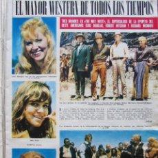 Coleccionismo de Revista Hola: RECORTE REVISTA HOLA Nº 1181 1967 THE WAY WEST. KIRK DOUGLAS, ROBERT MITCHUM, RICHARD WIDMAK 5 PGS. Lote 206322670