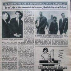 Coleccionismo de Revista Hola: RECORTE REVISTA HOLA Nº 1181 1967 RICHARD SPECK, EL ASESINO DE ENFERMERAS. Lote 206324705