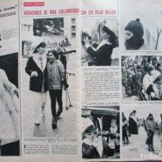 Coleccionismo de Revista Hola: RECORTE REVISTA HOLA Nº 1181 1967 GINA LOLLOBRIGIDA. Lote 206324773