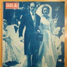 Coleccionismo de Revista Hola: REVISTA HOLA. 1957 . LA BODA DEL AÑO. ENRIQUE DE FRANCIA Y MARIA TERESA DE WURTTENBERG. Lote 206472548