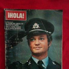 Coleccionismo de Revista Hola: ¡ HOLA! REVISTA AÑO 1971 NUM 1394 EN PORTADA EL PRÍNCIPE CARLOS GUSTAVO HEREDERO CORONA DE SUECIA. Lote 206805560