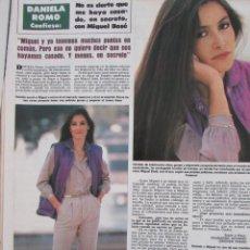 Coleccionismo de Revista Hola: RECORTE REVISTA HOLA Nº 2066 1984 DANIELA ROMO. Lote 207071436
