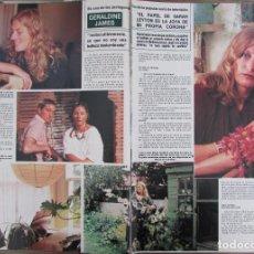 Coleccionismo de Revista Hola: RECORTE REVISTA HOLA Nº 2141 1985 GERALDINE JAMES. Lote 207077087