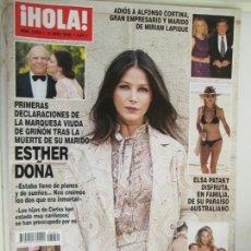 Coleccionismo de Revista Hola: REVISTA HOLA Nº 3950 - ABRIL 2020 - LOURDES MONTES, ELSA PATAKI, ESTHER DOÑA .... Lote 207134725