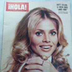 Coleccionismo de Revista Hola: REVISTA HOLA NUM 1566, 31 AGOSTO 1974. BITT EKLAND , NUEVA CHICA BOND. Lote 228719546