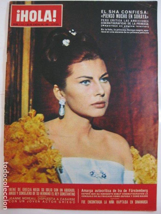 ¡HOLA! NUM. 1.117 - 22 ENERO 1966 - PRINCESA SORAYA (Coleccionismo - Revistas y Periódicos Modernos (a partir de 1.940) - Revista Hola)