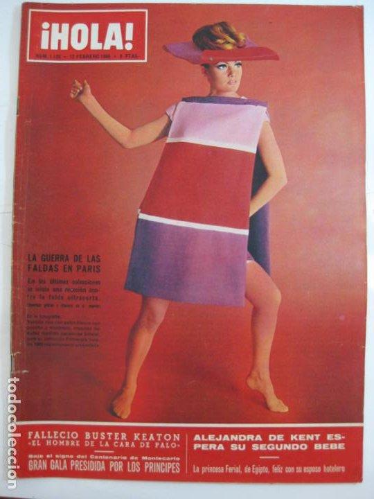 ¡HOLA! NUM. 1.120 - 12 FEBRERO 1966 - GUERRA DE LAS FALDAS EN PARIS (Coleccionismo - Revistas y Periódicos Modernos (a partir de 1.940) - Revista Hola)