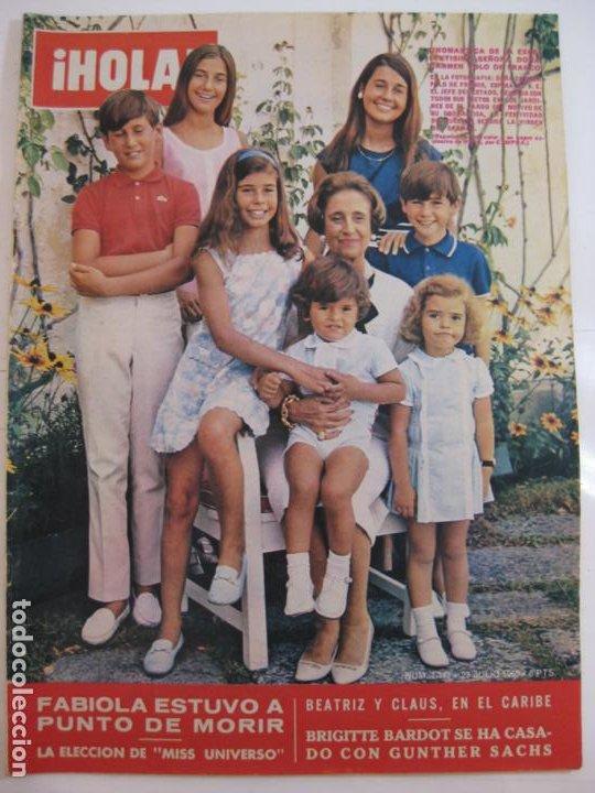 ¡HOLA! NUM. 1.143 - 23 JULIO 1966 - DOÑA CARMEN POLO DE FRANCO (Coleccionismo - Revistas y Periódicos Modernos (a partir de 1.940) - Revista Hola)