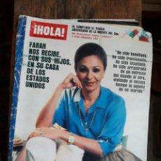 Coleccionismo de Revista Hola: REVISTA HOLA 2031 1983 FARAH DIBA PUBLICIDAD OPEL RENAULT ZANUSSI .... Lote 209240023