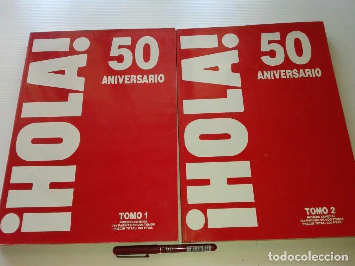 HOLA, 2 TOMOS DEL 50 ANIVERSARIO 1994, T9 (Coleccionismo - Revistas y Periódicos Modernos (a partir de 1.940) - Revista Hola)