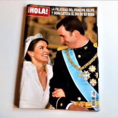 Coleccionismo de Revista Hola: REVISTA HOLA ESPECIAL BODA LETICIA Y FELIPE 2004 NUMERO 3122. Lote 210608530