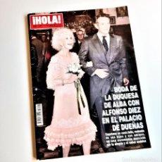 Coleccionismo de Revista Hola: REVISTA HOLA ESPECIAL BODA DE LA DUQUESA DE ALBA Y ALFONSO DIEZ 2011 NUMERO 3506. Lote 210608747