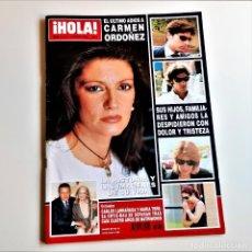Coleccionismo de Revista Hola: REVISTA HOLA ULTIMO ADIOS A CARMEN ORDOÑEZ 2004 NUMERO 3131. Lote 210609647
