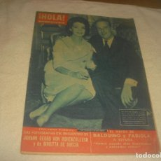 Coleccionismo de Revista Hola: HOLA ! N. 854 , ENERO 1961, BRIGUITA, BALDUINO Y FABIOLA. Lote 210746765