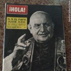 Coleccionismo de Revista Hola: HOLA NUM 980 9 JUNIO 1963 JUAN XXIII. Lote 211567074