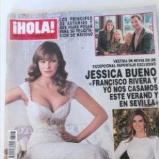 Coleccionismo de Revista Hola: ¡ HOLA ! JESSICA BUENO FRANCISCO RIVERA Y YO NOS CASAMOS ÉSTE VERANO , JULIO IGLESIAS. Lote 212804895
