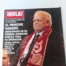 Coleccionismo de Revista Hola: ¡ HOLA ! EL PRÍNCIPE RAINERO , LEONARDO DICAPRIO. Lote 212805455