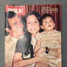 Coleccionismo de Revista Hola: HOLA. REVISTA DE SOCIEDAD NO.1480, VISITA AL HOGAR DE JULIO IGLESIAS (8 DE ENERO DE 1973). Lote 213123325