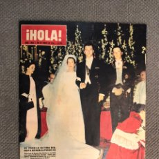 Collectionnisme de Magazine Hola: HOLA. REVISTA DE SOCIEDAD NO.1066, SE CASÓ LA ÚLTIMA BISNIETA DE DON ALFONSO XII. Lote 213165267