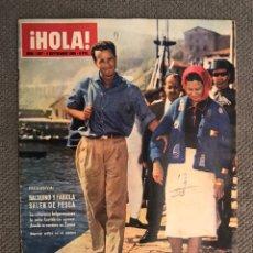 Coleccionismo de Revista Hola: HOLA. REVISTA DE SOCIEDAD, NO.1097, BALDUINO Y FABIOLA, SALEN DE PESCA (A.1965). Lote 213166108