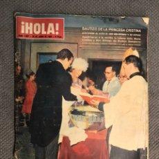 Coleccionismo de Revista Hola: HOLA. REVISTA DE SOCIEDAD, NO.1086. BAUTIZO DE LA PRINCESA CRISTINA (26 DE JUNIO DE 1965). Lote 213167485