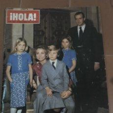 Coleccionismo de Revista Hola: HOLA, 15 NOVIEMBRE 1975. FAMILIA REAL ESPAÑOLA. Lote 213350453