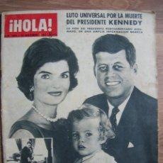 Coleccionismo de Revista Hola: MUY RARA Y ESCASA REVISTA HOLA. ASESINATO DEL PRESIDENTE KENNEDY. NOVIEMBRE DEL AÑO 1963. JFK.. Lote 213437070