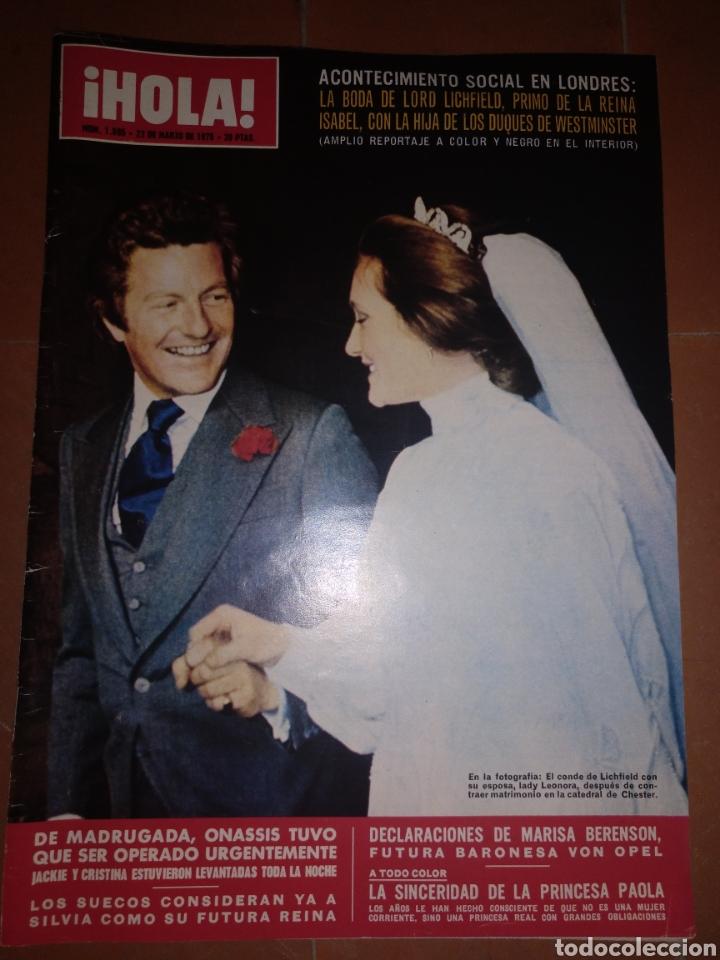 HOLA NUM 1595, 22 MARZO 1975 (Coleccionismo - Revistas y Periódicos Modernos (a partir de 1.940) - Revista Hola)