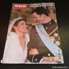 Coleccionismo de Revista Hola: REVISTA HOLA Nº3122 - 2004 - LA FELICIDAD DEL PRÍNCIPE FELIPE Y DOÑA LETIZIA EL DÍA DE SU BODA. Lote 214046497