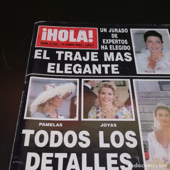 Coleccionismo de Revista Hola: REVISTA HOLA Nº3123 - 2004 - TODOS LOS DETALLES DE LA BODA DEL SIGLO - Foto 5 - 214046662