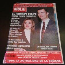 Coleccionismo de Revista Hola: REVISTA HOLA Nº3105 - 2004 - EL PRÍNCIPE FELIPE CUMPLE TREINTA Y SEIS AÑOS. Lote 214046902