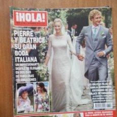 Coleccionismo de Revista Hola: REVISTA HOLA Nº 3.706 - PIERRE Y BEATRICE Y SU GRAN BODA ITALIANA - 2015. Lote 214114957