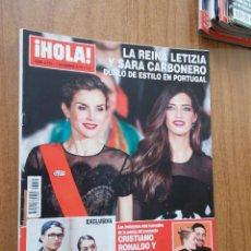 Coleccionismo de Revista Hola: REVISTA HOLA Nº 3.775 - LA REINA LETIZIA Y SARA CARBONERO DUELO DE ESTILO EN PORTUGAL -2016. Lote 214119466