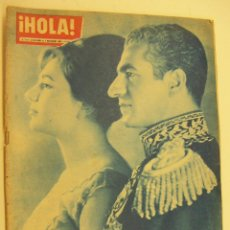 Coleccionismo de Revista Hola: REVISTA HOLA Nº 844 EL SHA DE PERSIA Y FARAH DIBA - JOYAS DE DALI - AÑO 1960. Lote 214328491