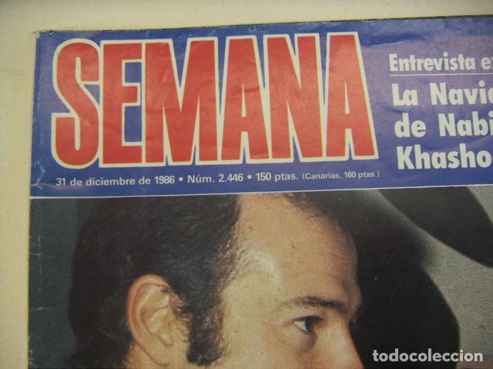 Coleccionismo de Revista Hola: REVISTA SEMANA 2446-1986-DUQUE CADIZ-ESTEFANIA-JUANITO REAL MADRID-NANA MOUSKOURI-TONY LEBLANC - Foto 2 - 214794742