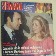 Coleccionismo de Revista Hola: REVISTA SEMANA 2446-1986-DUQUE CADIZ-ESTEFANIA-JUANITO REAL MADRID-NANA MOUSKOURI-TONY LEBLANC. Lote 214794742