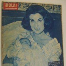 Coleccionismo de Revista Hola: REVISTA HOLA AÑO 1962 Nº 944 COMPRAS CON MARISOL EN BARCELONA BAUTIZO HIJO MARQUESES VILLAVERDE. Lote 214798576