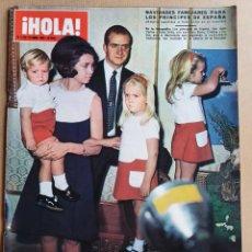 Coleccionismo de Revista Hola: HOLA, Nº 1322 - 27 DICIEMBRE 1969 - NAVIDADES FAMILIARES PARA LOS PRINCIPES DE ESPAÑA. Lote 215465042
