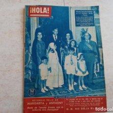 Coleccionismo de Revista Hola: HOLA 826, AÑO 1960.FAMILIA MARTINEZ BORDIU FRANCO.B.B.DIANA ETC.. Lote 215513762