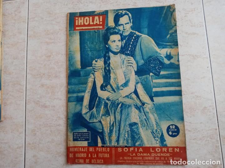 HOLA 850 AÑO 1960.SOFIA LOREN. REINA DE BELGICA.DOMINGUIN Y LUCIA BOSE ETC.. (Coleccionismo - Revistas y Periódicos Modernos (a partir de 1.940) - Revista Hola)
