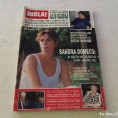 Colecionismo da Revista Hola: HOLA 1987 ESTEFANIA MONACO CONNIE SELLECCA JULIO IGLESIAS MARY SANTPERE FAMA TERESA CALCUTA MISS. Lote 215776930