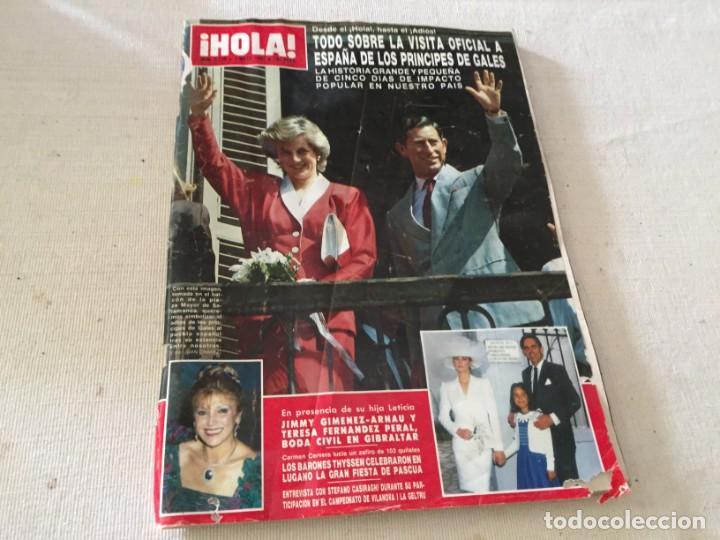 HOLA 1987 MAYRA GOMEZ KEMP ALASKA (FANGORIA) EN LA VISITA DE LOS PRINCIPES DE GALES EN ESPAÑA (Coleccionismo - Revistas y Periódicos Modernos (a partir de 1.940) - Revista Hola)