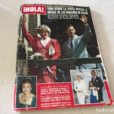 Collezionismo di Rivista Hola: HOLA 1987 MAYRA GOMEZ KEMP ALASKA (FANGORIA) EN LA VISITA DE LOS PRINCIPES DE GALES EN ESPAÑA. Lote 215990431