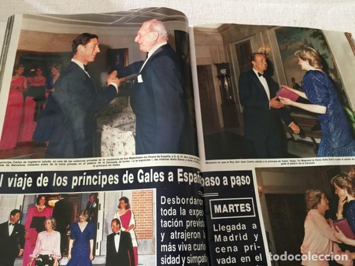 Coleccionismo de Revista Hola: HOLA 1987 MAYRA GOMEZ KEMP ALASKA (FANGORIA) EN LA VISITA DE LOS PRINCIPES DE GALES EN ESPAÑA - Foto 3 - 215990431