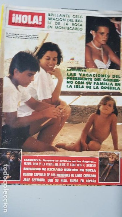 REVISTA HOLA AÑO 1984 (Coleccionismo - Revistas y Periódicos Modernos (a partir de 1.940) - Revista Hola)