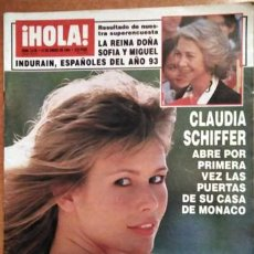 Coleccionismo de Revista Hola: REVISTA HOLA CLAUDIA SCHIFFER. Lote 217281922
