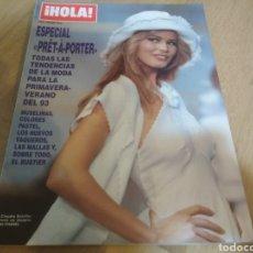 Coleccionismo de Revista Hola: REVISTA HOLA MODA CLAUDIA SCHIFFER 1993 PRET A PORTER. Lote 217642250