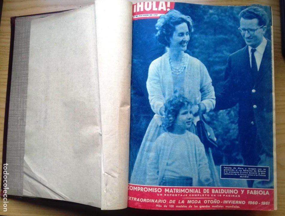 HOLA 12 REVISTAS DEL Nº 839 A 860 DE 24.09.60 AL 24.02.61 +1 TERESA Nº 84 BALDUINO Y FABIOLA.TOMO (Coleccionismo - Revistas y Periódicos Modernos (a partir de 1.940) - Revista Hola)