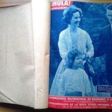 Coleccionismo de Revista Hola: HOLA 12 REVISTAS DEL Nº 839 A 860 DE 24.09.60 AL 24.02.61 +1 TERESA Nº 84 BALDUINO Y FABIOLA.TOMO. Lote 218051567